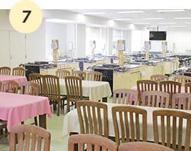 講義・実習ができ試食室も兼ね備えた給食管理実習室【D館2F】