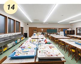 授業で利用する図画工作室【実習棟】