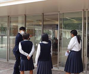川之石高校の皆さんが来学されました!―大学見学会―