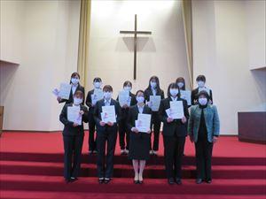 「松山東雲学園同窓会雪びら奨学金」授与式を行いました。